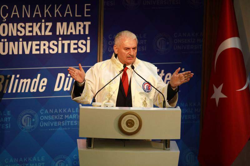 Başbakan Binali Yıldırım Çanakkale'de