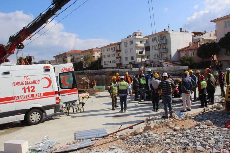 Yeni hizmet binası inşaatında kaza