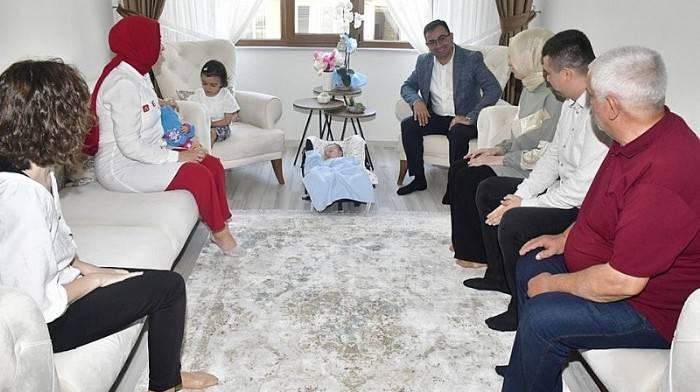 Başkan Erdoğan, 'Hoş Geldin Bebek' Ziyaretinde