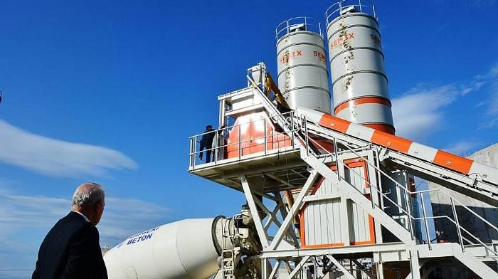 Lapseki Belediyesi beton santrali üretime başladı