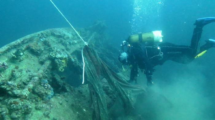Çanakkale Denizi devasa boyuttaki ağlardan temizleniyor