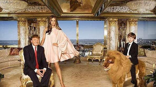 İşte Trump'ın altın kaplama o evi