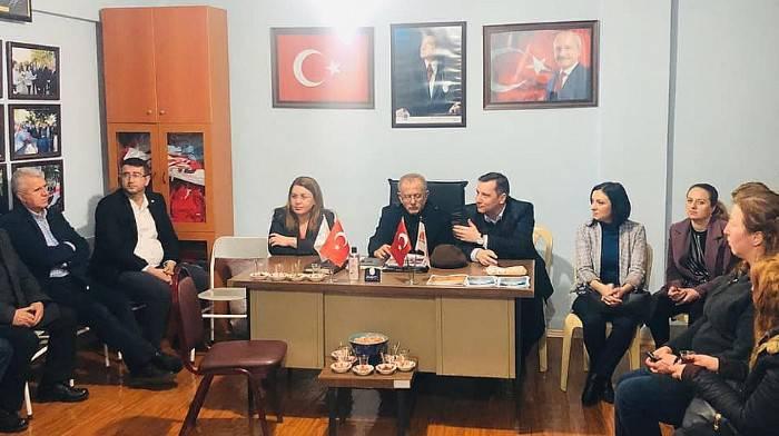 CHP'Lİ KARACA, KARABİGA BELDE TEŞKİLATINI ZİYARET ETTİ