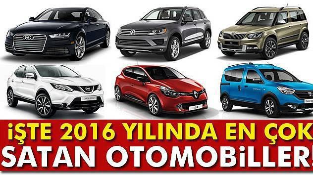 İşte 2016 yılında en çok satan otomobiller!
