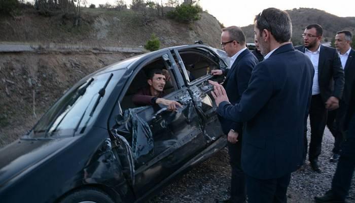 Turan, trafik kazasına duyarsız kalmadı