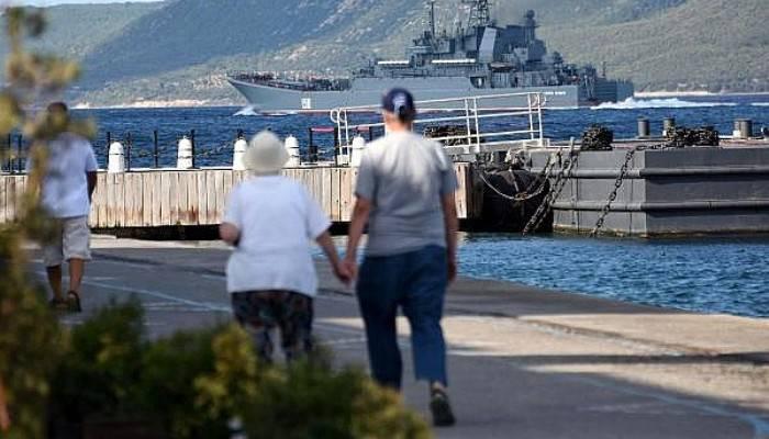 Her gün bir Rus gemisi Akdeniz'e iniyor (VİDEO)