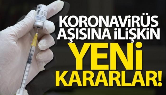 Sağlık Bakanlığı'ndan koronavirüs aşısına ilişkin karar!
