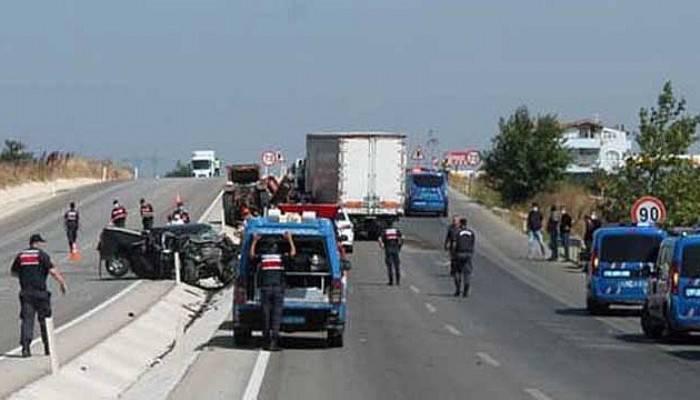Biga'da feci trafik kazası