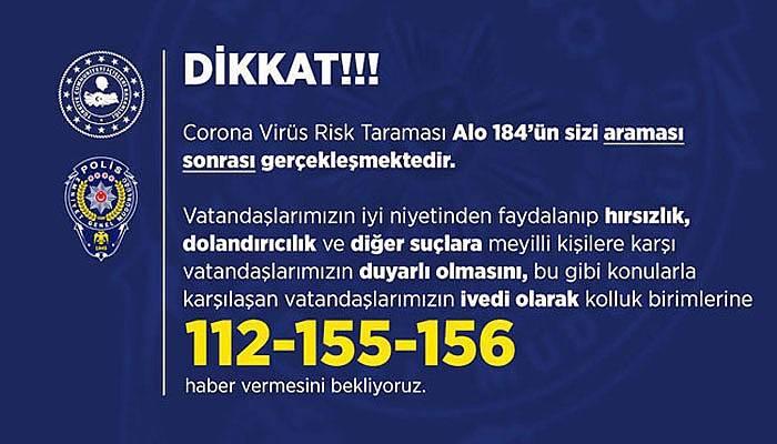 """""""TEST AMACIYLA GELDİĞİNİ SÖYLEYENLERİ İÇERİ ALMAYIN"""""""