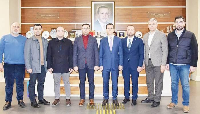 AK PARTİ GENEL SEKRETERİ FATİH ŞAHİN'İ ZİYARET ETTİ