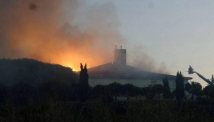 Açık Cezaevindeki yangın kontrol altında
