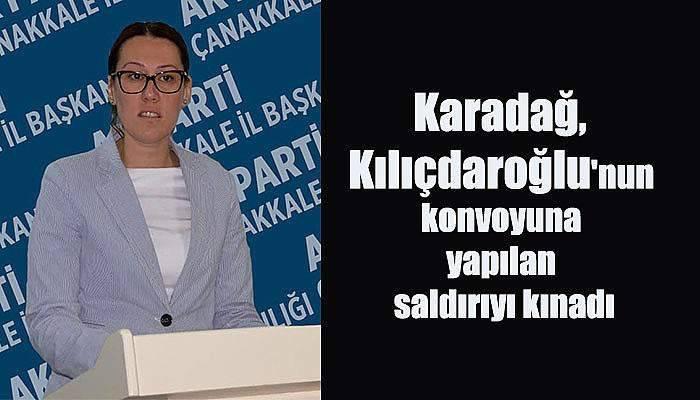 Karadağ, Kılıçdaroğlu'nun konvoyuna yapılan saldırıyı kınadı