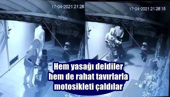 Çanakkale'de motosiklet hırsızlığı güvenlik kameralarına yansıdı (VİDEO)