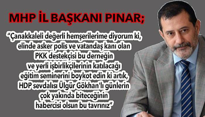 MHP'li Hakan Pınar, Ülgür Gökhan'a yüklendi!