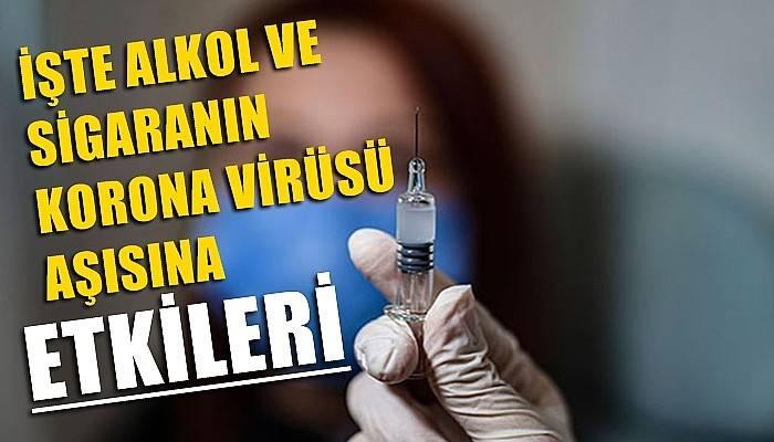 Prof. Dr. Oğuztürk: Alkol ve sigara, koronavirüs aşısında negatif etki oluşturuyor (VİDEO)