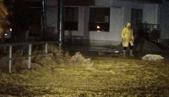 Bayramiç'te sağanak yağış nedeniyle dereler taştı (VİDEO)