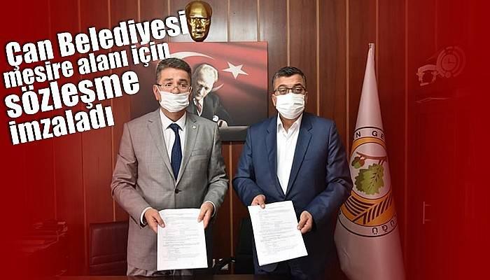 Çan Belediyesi mesire alanı için sözleşme imzaladı