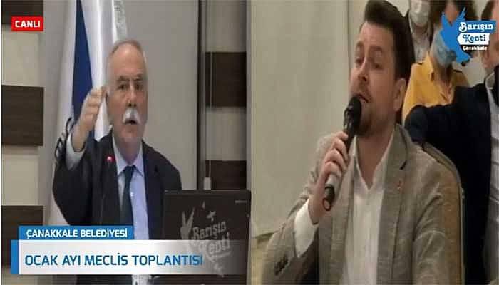 Çanakkale Belediye Meclisinde gergin anlar! (VİDEO)