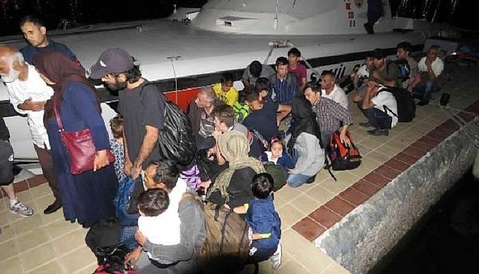 Çanakkale'de 33 kaçak yakalandı (VİDEO)
