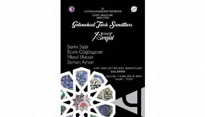 Çanakkale'de Geleneksel Türk Sanatları Sergisi