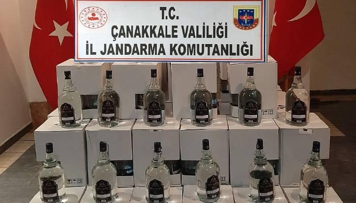 888 litre kaçak alkol ele geçirildi