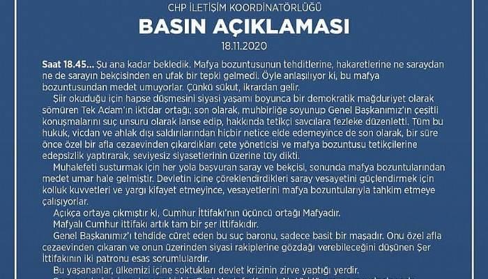 ÖZTÜRK'TEN KILIÇDAROĞLU'NUN TEHDİT EDİLMESİNE TEPKİ