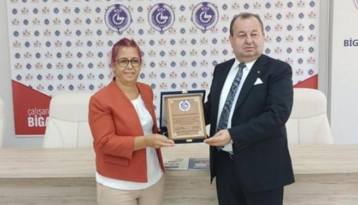Biga Ticaret ve Sanayi Odasından öğretim üyelerine ödül töreni