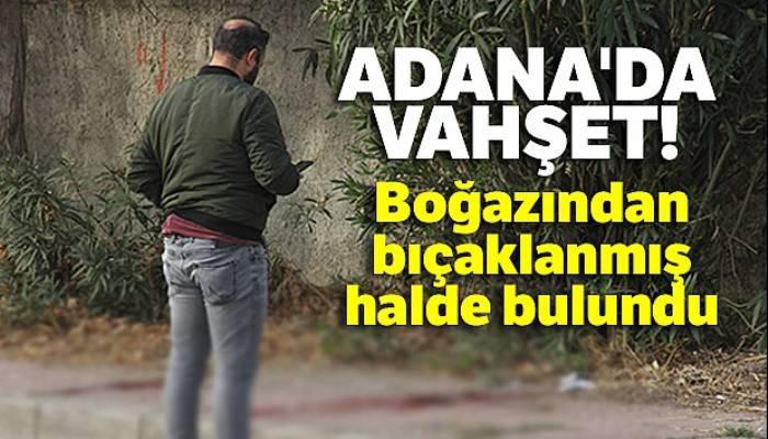 Adana'da vahşet! Boğazından bıçaklanmış halde bulundu