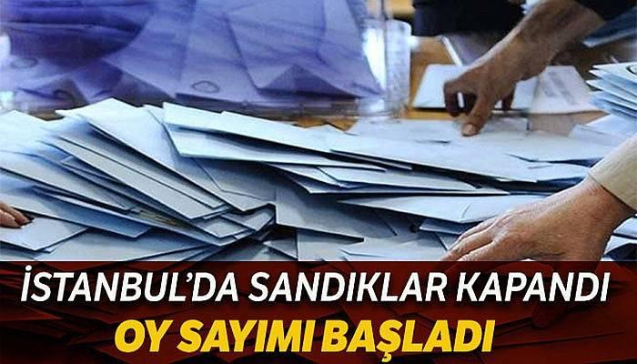 İstanbul'da sandıklar kapandı