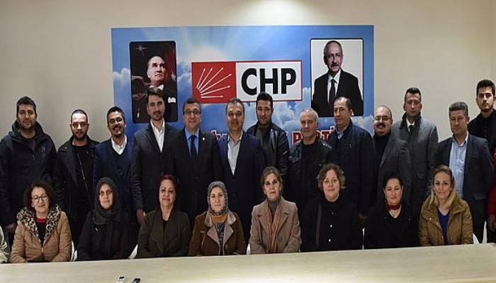 Öz'den Yeni Seçilen CHP İlçe Örgütüne İade-İ Ziyaret