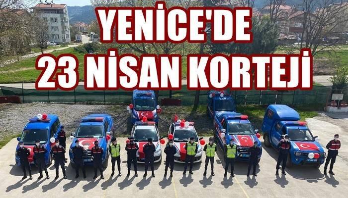 Çanakkale'de kolluk kuvvetleri 23 Nisan coşkusunu yaşattı (VİDEO)