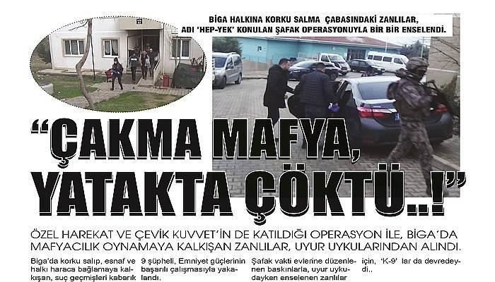 MAFYACILIK OYUNUNU, POLİS BOZDU…