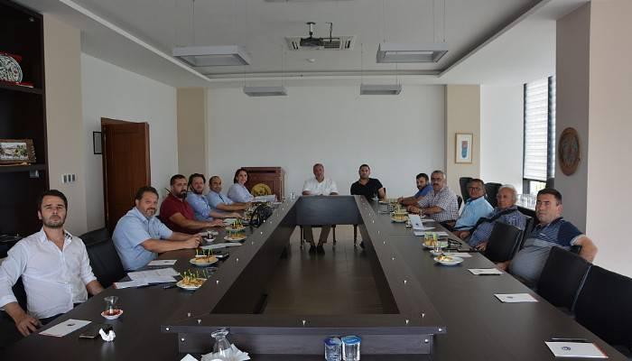 ÇTSO yönetim kurulu, 14 numaralı meslek grubuyla buluştu