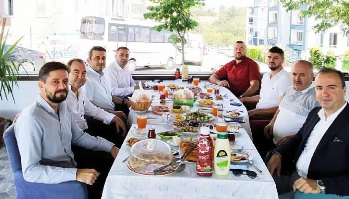 ORTUR CAFEDE BAŞKANLAR KAHVALTIDA BULUŞTU