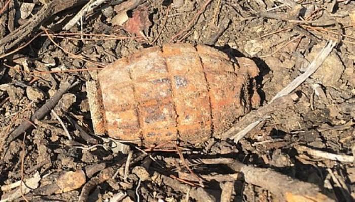 Çanakkale Savaşları'ndan kalma patlamamış el bombası imha edildi