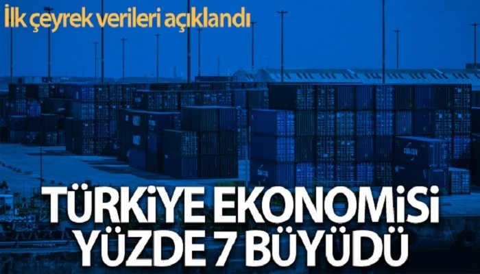 Türkiye ekonomisi ilk çeyrekte yıllık yüzde 7 büyüdü