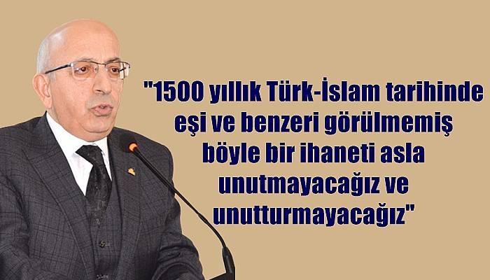 ÇOMÜ Rektörü Prof.Dr.Sedat Murat'ın 15 Temmuz Mesajı