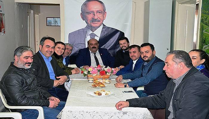 Lapseki'de AK Parti'den CHP'ye ziyaret (VİDEO)