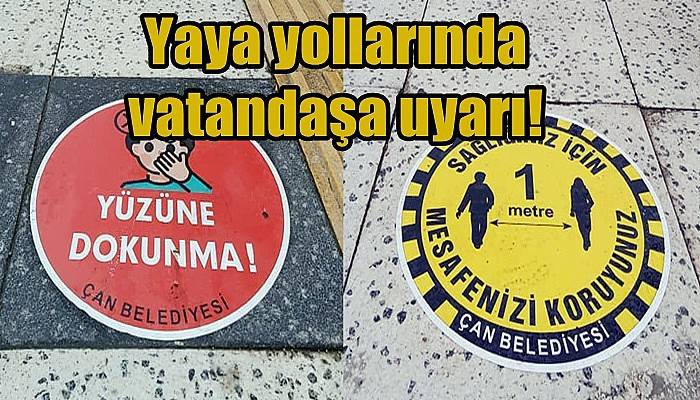 Yaya yollarında vatandaşa uyarı!