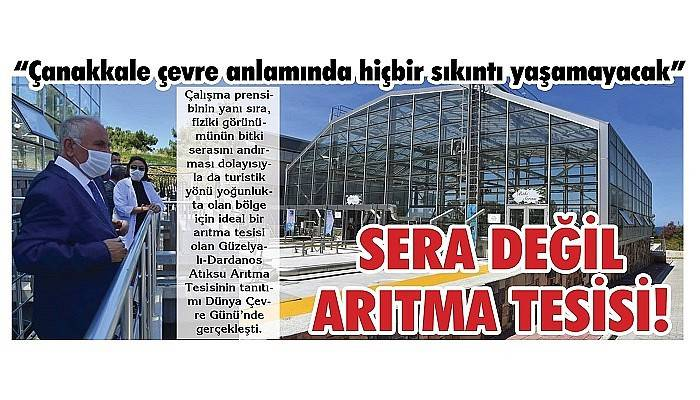 SERA DEĞİL ARITMA TESİSİ!