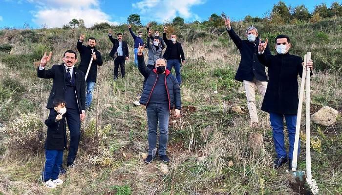 Ülkücüler, Alparslan Türkeş anısına fidan dikti