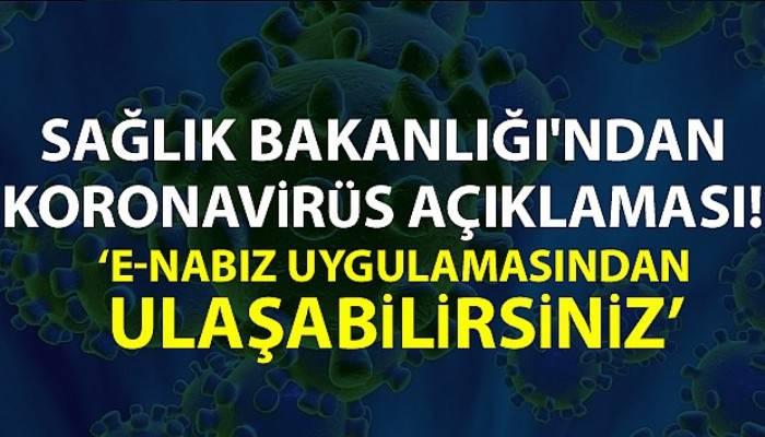 Sağlık Bakanlığı'ndan Koronavirüs açıklaması
