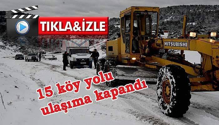 Çanakkale'de yoğun kar
