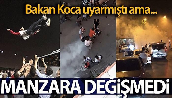 Sağlık Bakanı Koca'nın açıklamasına rağmen İstanbul'da dehşete düşüren görüntüler