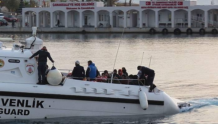 Çanakkale'de 97 kaçak göçmen yakalandı (VİDEO)
