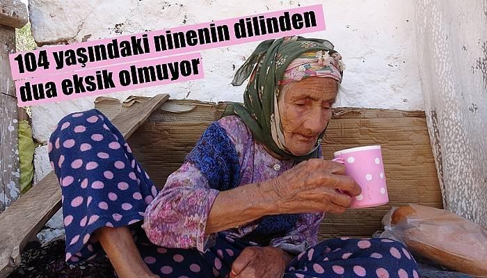Yürümek dışında hiçbir sağlık problemi olmayan 104 yaşındaki Fatma Koşan, torunlarının torunlarını bile hatırlıyor (VİDEO)