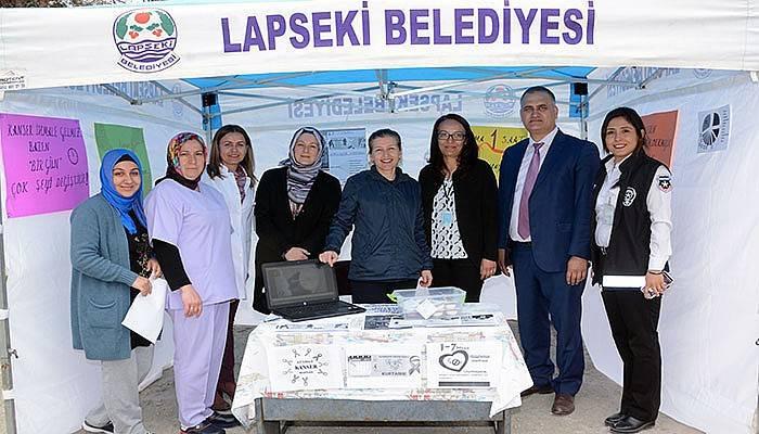 Lapseki'de Kanser Haftası Etkinliği (VİDEO)
