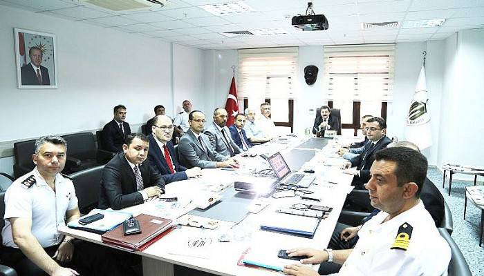İl Güvenlik Toplantısı Vali Orhan TAVLI Başkanlığında Yapıldı