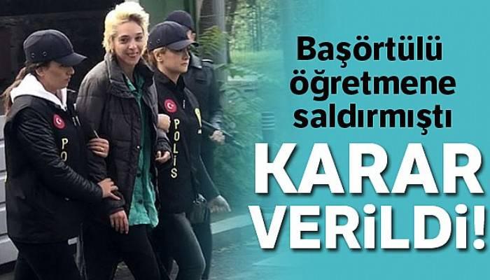 Beşiktaş'ta başörtülü öğretmene saldıran kadın tutuklandı
