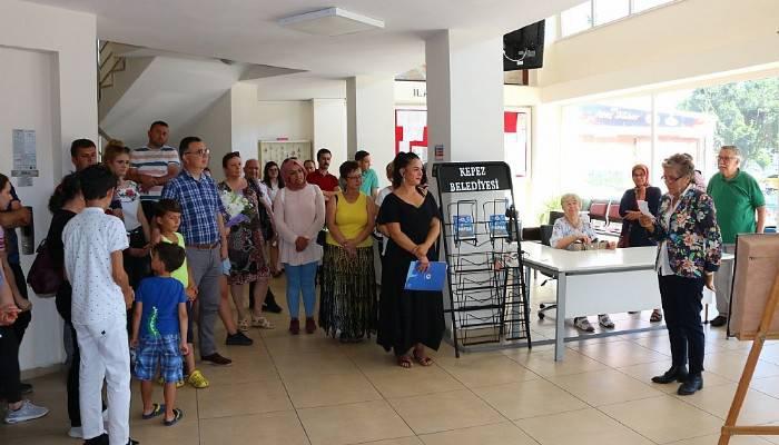 Alacatlı'nın rölyef sergisi açıldı